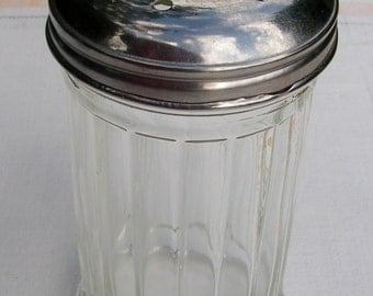50s Diner Cheese Shaker Restaurant Mid Century Heavy Thick Glass