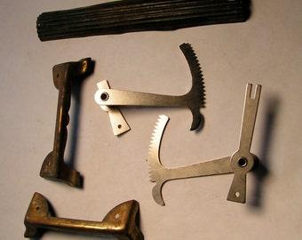 Assortment of Vintage CLOCK Parts - Brackets, rods, Trim pieces - Industrial Repurpose