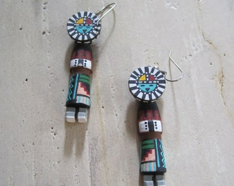 Wooden Kachina earrings