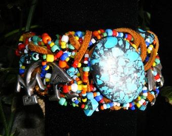 Native People Bauble Cuff Bracelet