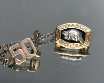 Vintage Gold Filled 1950-1951 Seattle Ballard High School Pin