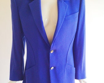 Vintage Thierry Mugler Cobalt Blue Tailored Blazer