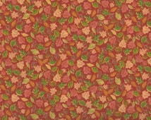 Leaves, Fall Fabric, Harvest Fabric, Orange Fabric, Leaf Fabric, 1 yard Fabric, 05028