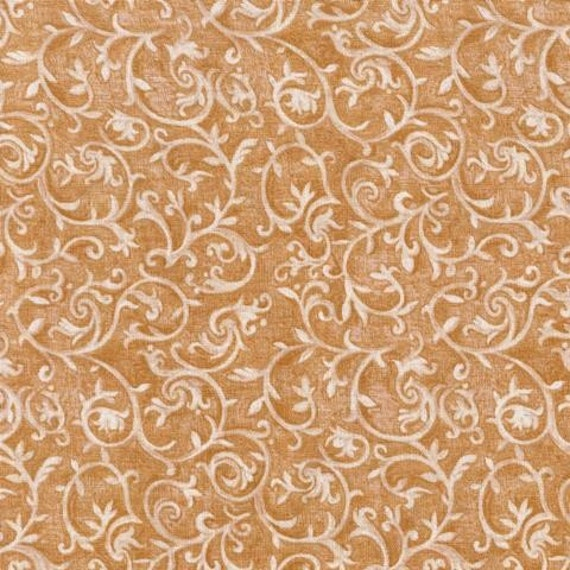 Floral Fabric Marseille By Blank Quilting Topaz Tan