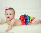 Rainbow Bloomer - Photo Baby Toddler Child Girls Photo Prop First Birthday Cake Rainbow Party
