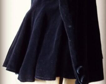 SALE  Black Velvet Vintage Jacket Victorian