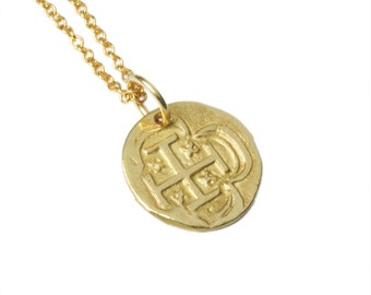 Solid 14K Gold Spanish Coin Pendant