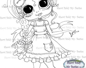 INSTANT DOWNLOAD Digital Digi Stamps Big Eye Big Head Dolls Digi  My Besties Fancy By Sherri Baldy