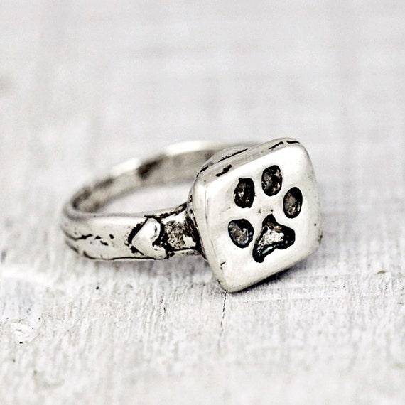 Puppy Paw Ring Pet Jewelry Handmade Jewelry Dog Rings