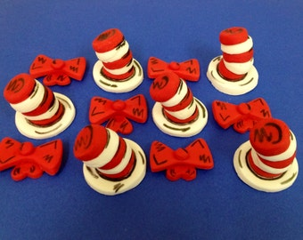 Edible Fondant Toppers - Floppy Hats and Bow Ties