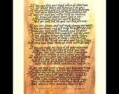 if poem calligraphy  print