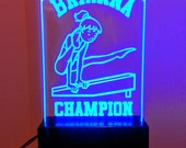 """Custom SPORTS  LED Sign - Fully customizable!  11""""x6"""" Kids Sport signs w/remote!  Perfect Gift! Great night light!"""