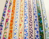 Origami Lucky Star Paper Strips Romantic Floral Mixed Designs Star Foldng DIY - Pack of 100 Strips