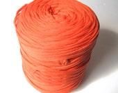 T-shirt yarn - Chunky, bulky, thick cotton yarn - orange, pumpkin, persimmon