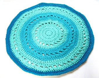 Crocheted, Round Rug - COTTAGE RUG - made-to-order