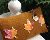 Autumn Leaves Prim Pillow Tuck~ fall leaves~ vintage quilt~ primitive decor~ harvest~ thanksgiving