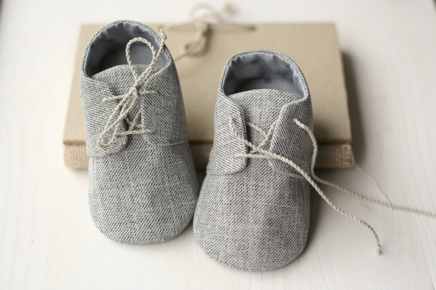 Grey Infant Dress Shoes