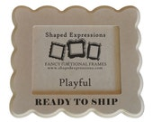READY TO SHIP - 8x10 Playful unfinished picture frame