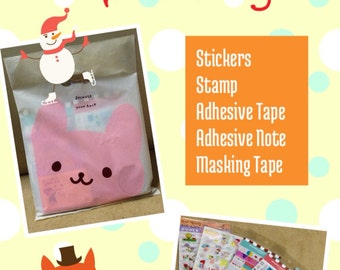 New 2017 Holiday Grab Bag - Stickers, MaskingTape, Post it (Buy 4 Get 1 Free)
