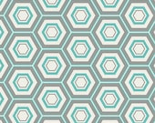 Hexa in Honeycomb (Hexagons Hexi in Aqua/Turquoise Blue) - MNL 300 - Minmalista- Art Gallery Fabrics - 1 yard, Add'l Avail
