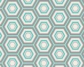 Hexa in Honeycomb (Hexagons Hexi in Aqua/Turquoise Blue) - MNL 300 - Minmalista- Art Gallery Fabrics - 1 yard, Add'l Avail