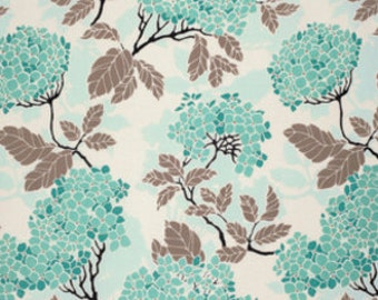 "Birch Farm by Joel Dewberry - Hydrangea in Egg Blue - Home Decor Sateen - 54"" wide - 1/2 yard, Additional available"
