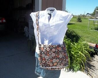 Floral Cotton Messenger Bag
