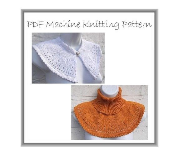 Machine Knit Cowl Collar Capelet Neckwarmer Pattern PDF Download