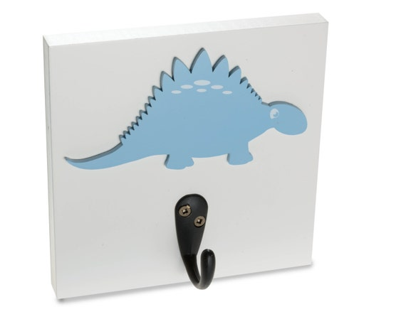 Items similar to dinosaur wall hooks wall decor kids room boys blue clothes hanger - Kids decorative wall hooks ...