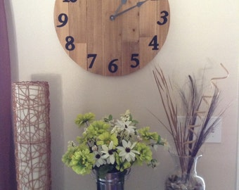 "20"" Rustic Wood Wall clock/Cypress wood"