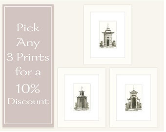 Any 3 Prints for a 10% Discount