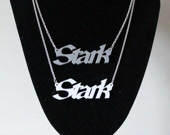 Stark pendant// ASOIAF// Game of thrones// Laser cut pendant