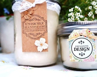 Handpoured Soy Mason Jar Candle//Choose Your Own Scent//Large pint - 16 oz.-100% Soy Candle//Rustic Candle//Container Candle/Strong Smelling