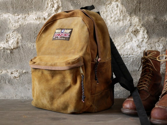 Jansport adventure suede leather backpack usa