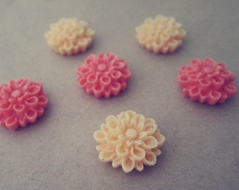 10pcs  Mixed color  Resin Flowers 15mm