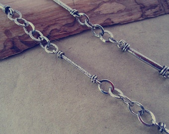 3.3ft  Antique silver Metal pendant Chain 3mmx29mm