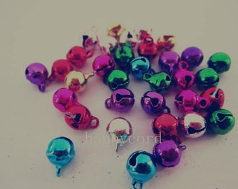 50pcs Mixed color tinkle bell  11mm