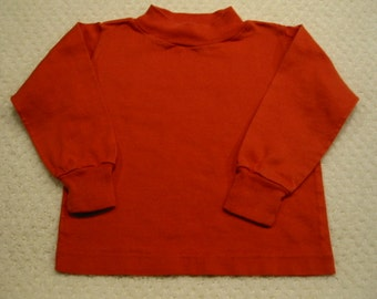 Vintage orange long sleeved Buster Brown tee shirt . . .  size  2 . . .  from the 1960's .  . .excellent condition . . . Made in the USA