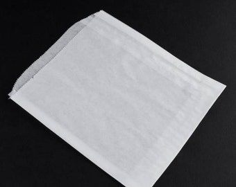 300 Gusseted White Sandwich Bags 6 x 6.5 inches, Food Safe