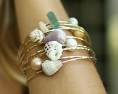 Custom Puka Shell Bangle or Cone Shell Bangle 14kt Gold Filled