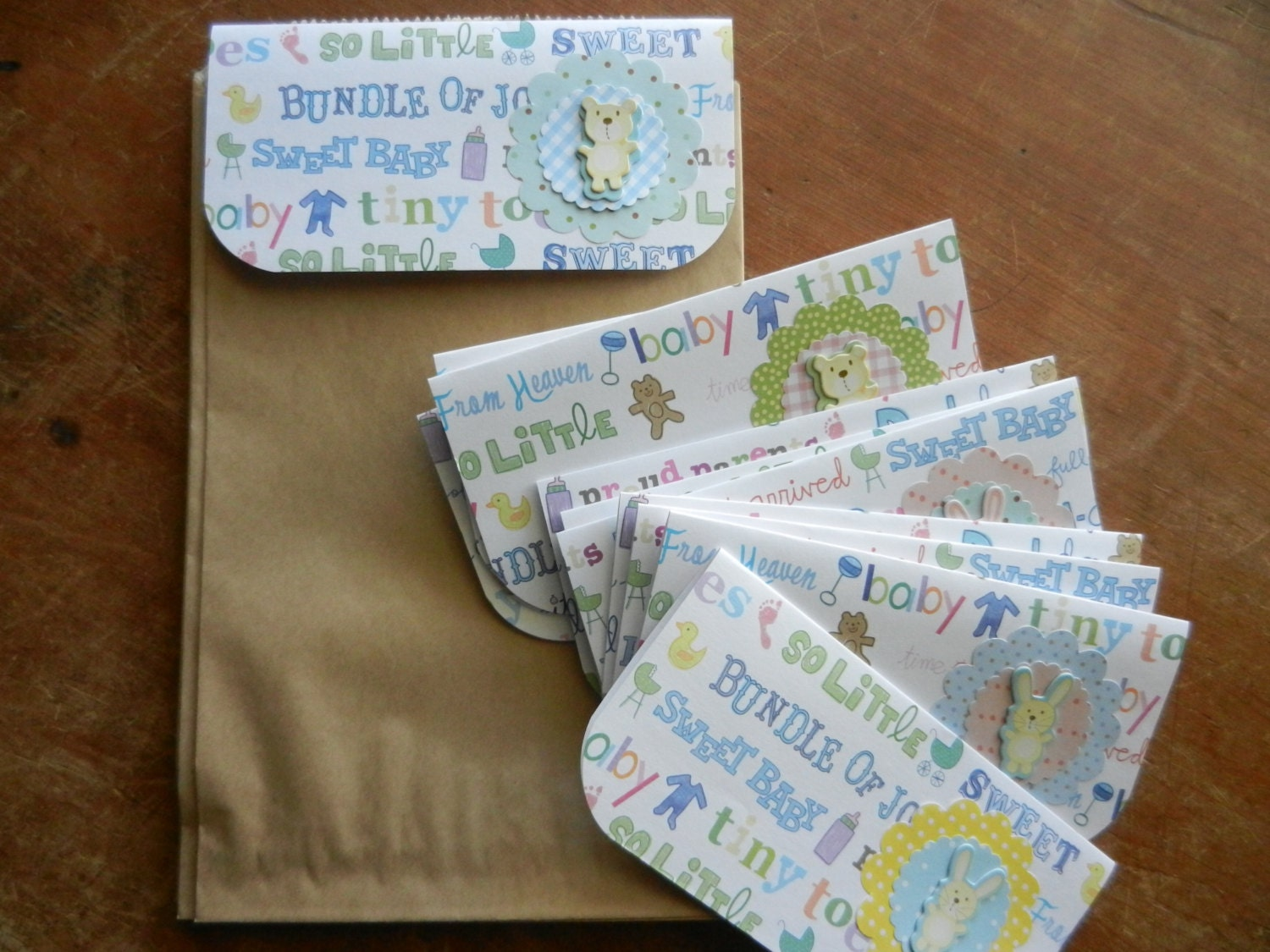 baby shower party favor bags for thank you gifts at a baby