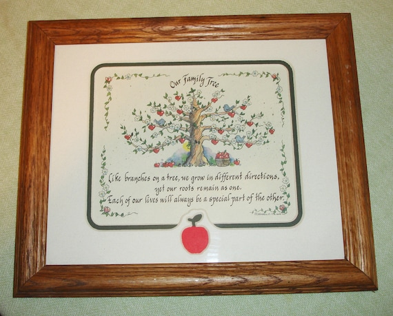 Our Family Tree Poem Picture Frame Like Branches On A Tree