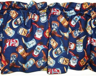 Assorted Tossed Cowboy Boots Western Boots Beautiful Colors Window Treatment Valance