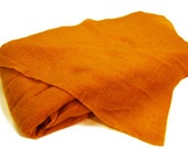 Orange Prefelt, 18 x 18 inches, Merino Wool Prefelt, Fat Quarter of Prefelt