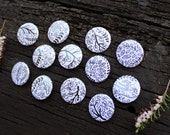 OOAK - Botanical pinback buttons - 25mm size