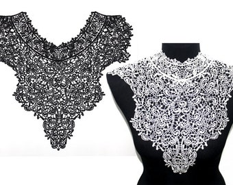 Lace Crochet  Collar for Shirt Blouse Dress Collar sewing and crafting