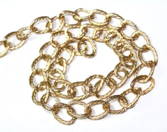 2 YARDS of Gold Shiny Chains Links Trim ' for Crafts, Sewing , Accessories and Jewelry