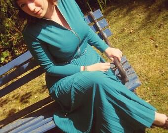 Gorgeous 1970's Teal Dress