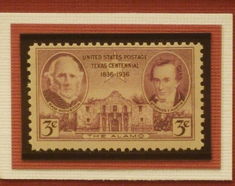 Fathers of Texas - Vintage Framed Stamp - No. 776