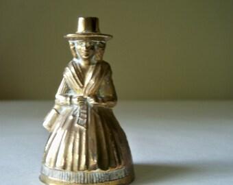 Welsh Lady brass handbell- small